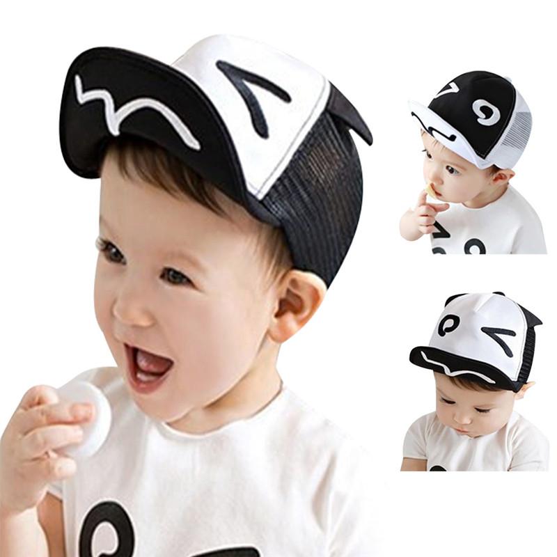 Soft Brim Kids Hats Summer Sun Hats Children's Baby Baseball Beret Caps Cute Boy Girl for 1-3Y Baby(China (Mainland))
