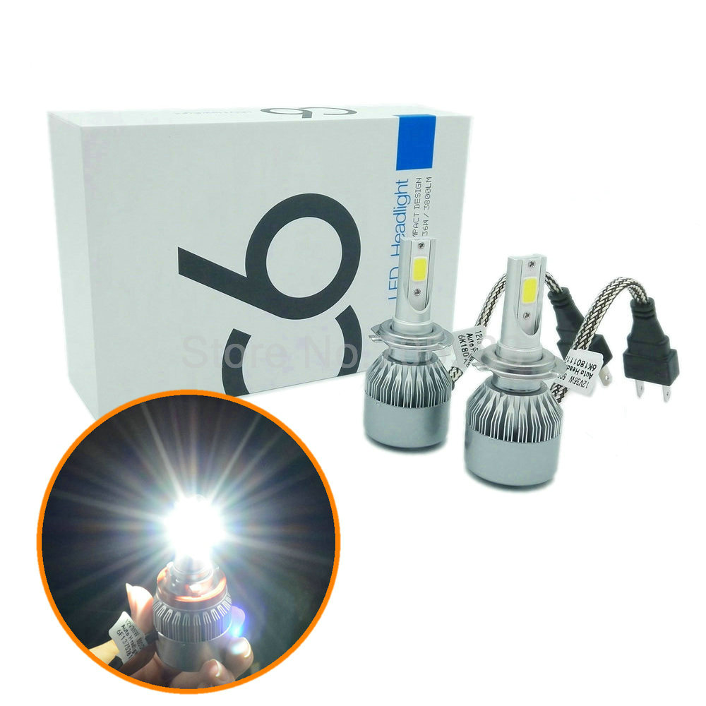 2PCS 72W WITH chip H7 LED car headlights H8 H9 H11 9006 9005 HB3 HB4 LED headlamp headlight bulbs DRL led flashlight 7600LM Car(China (Mainland))