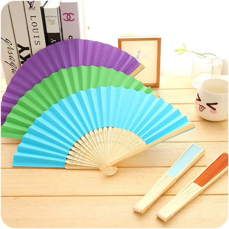 New Cute Japanese Cartoon Mini Folding Fan Summer Chinese Hand Paper Fans Pocket Folding Bamboo Fan Wedding Party Favor CF018(China (Mainland))