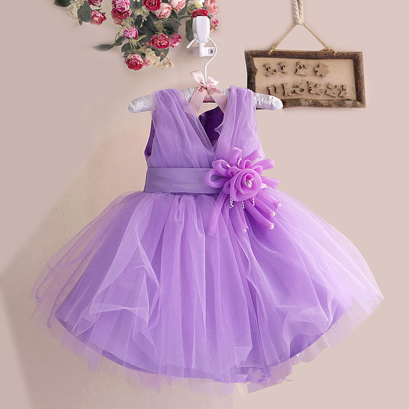 wholesale Girl Dress pink Wedding Gown Dresses With Cute Flower party Dress,kids princess dress free shipping 6pcs/lot P-02<br><br>Aliexpress