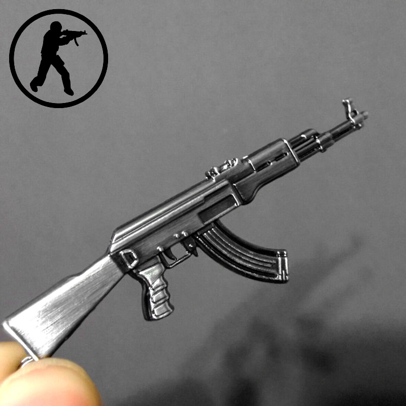 Novelty Items Counter Strike AK47 Guns Keychain Trinket Awp Rifle Sniper Key Chain Ring Jewelry Souvenirs Gift Men Llaveros - Magic Box store