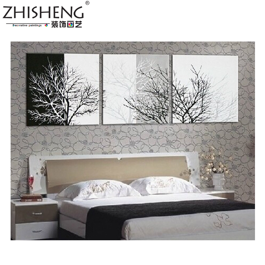 Modern Style Black and White Series, Handmade Oil Painting Canvas Wall Art ,Modern Painting ,Textured(China (Mainland))