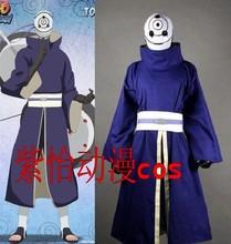 Naruto Akatsuki Ninja Tobi Obito Madara Uchiha blue Jacket Cosplay Costume top+pant+gloves (No Mask)