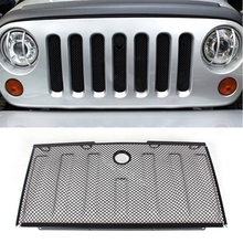 Black Front Hood Grille Bug Screen Mesh Grill Fits for Jeep JK Wrangler JK 07 08 09 10 11 12 13 14 15 Free DHL Shipping