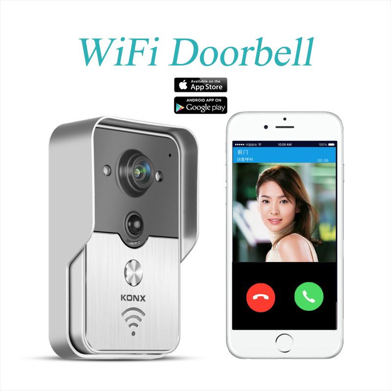 2015 Popular WiFi Wireless Video Door Phone intercom Doorbell Peehole Camera PIR IR Night Vision Alarm Android IOS Smart Home(China (Mainland))