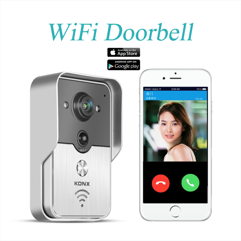 2015 Popular WiFi Wireless Video Door Phone intercom Doorbell Peehole Camera PIR IR Night Vision Alarm Android IOS Smart Home(China (Mainland))