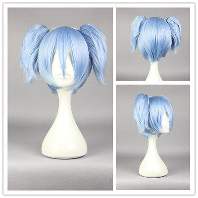 FREE P&P>>>>Fashion Women Syle 30cm Short Blue Ponytail Cosplay Party Costume Full Wig(China (Mainland))
