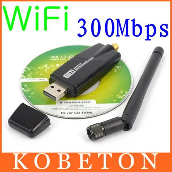 300 Mbps Wireless Adapter USB 2.0 WiFi 2.4G Network Lan Card With Antenna Realtek 8191 for windows XP Vista 7 8 Linux MAC(China (Mainland))
