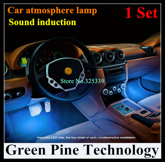1 Set Atmosphere RGB LED Strip Light Car Music Control 7 Color Acoustic Source Lamp Interior Styling Sound control string Light(China (Mainland))