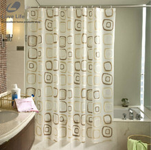 2016 WaterProof bath Curtain Square Pattern Home decor Bathroom Shower Curtain PEVA fabric shower curtain Free Shipping 8 Sizes(China (Mainland))