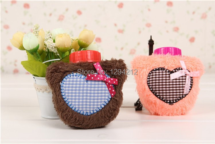 5pcs Free Shipping Hot Water Bottle With Cartoon Design Cover - Great Christmas Gift pmx(China (Mainland))
