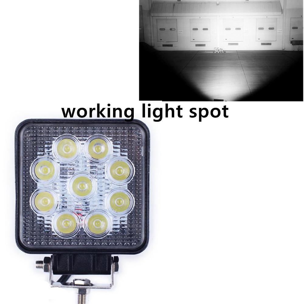 high quality 2pcs/set 12v spot beam truck trailer SUV epistar 27w led work light(China (Mainland))