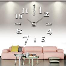 2016 free shipping new wall clock watch clocks reloj de pared home decoration 3d acrylic special sticker Living Room Needle(China (Mainland))
