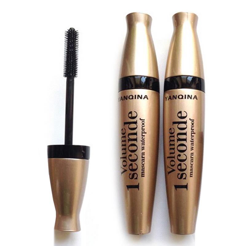 Gold Tube Mascara Eyes Makeup High Quality Beauty Cosmetic Black Liquid Eyeliner Curling Thick Eyes Lengthening Eyelashes MEM03(China (Mainland))