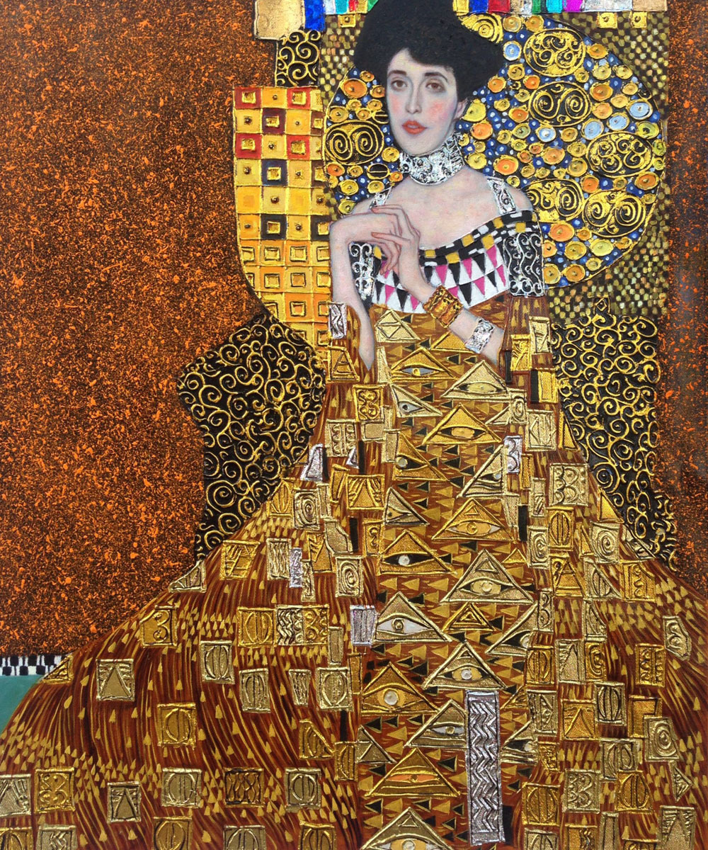 handpainted portrait oil painting replicas portrait of adele bloch bauer i gustav klimt 39 s. Black Bedroom Furniture Sets. Home Design Ideas