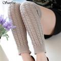 Sunfree 2016 New Design Hot Sale Women Winter Warm Leg Warmers Knitted Crochet Long Socks Brand