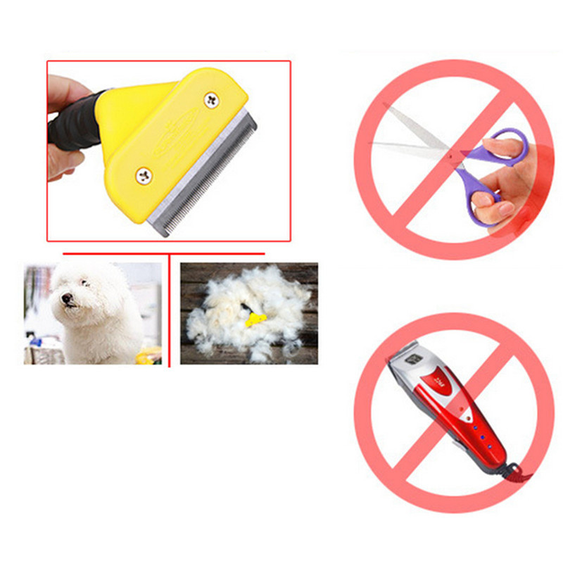Magic pet depilates comb dog hair removal comb stainless steel pet comb 3 sizes