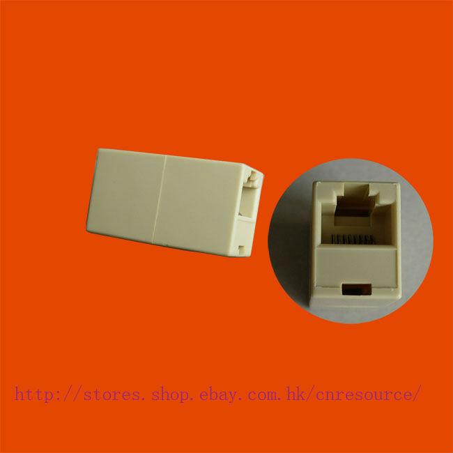 1 RJ45 Ethernet Network Cable Extender Lan Plug Coupler(China (Mainland))