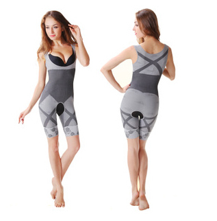 New Arrival! Bamboo Charcoal Magic Corset Reduce Weight Conjoined Postpartum Fat Burning Women Slimming Body Shaper(China (Mainland))