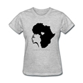African Hair Love Short Sleeve T Shirt Comfortable Crew Neck T Shirt Design For Women Printed