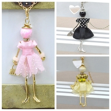 2015 New Arrival Doll Pendants Cute Women Necklace Female Jewelry top selling charms free shipping accessories NS256-259-258