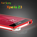 For fundas Xperia Z3 Dropproof Frame Luxury Aluminum Bumper For Sony Xperia Z3 D6603 D6633 shockproof