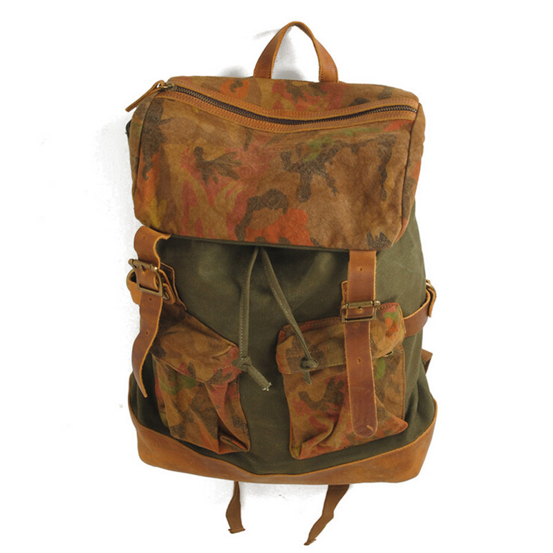 Hot! 2015 New England Style Mens Camouflage Canvas Backpack Male Casual Fashion Shoulder Bags Men Large Capacity Travel Bag 140 - Enjoy Shopping For Everybody store