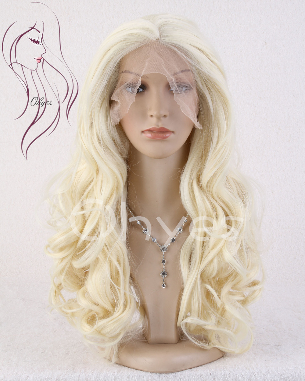 Ohyes 2015 New Arrival 26 Long Curly Wavy Golden Blonde Mixed Light Blonde Lace Front Wig/Wigs<br><br>Aliexpress