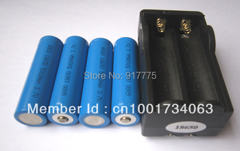 New 4pcs Li-ion 5000Mah 3.7V Rechargeable 18650 LED Flashlight Battery with one charger