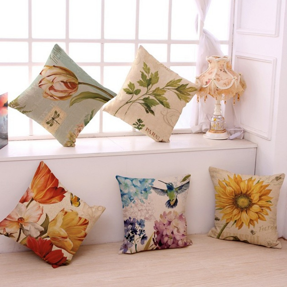 Buy Vintage Flowers Pillow Cover