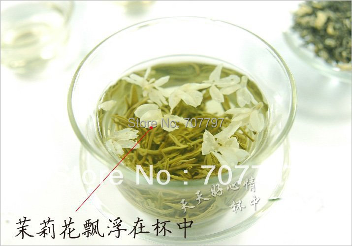 Top grade100g china jasmine green tea chinese green jasmine tea the organic jasmine flower tea green
