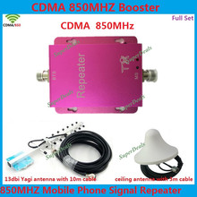 Mini Red CDMA 850MHz Signal Booster Repeater GSM CDMA 850MHz Repetidor de sinal Celular Repeater Amplifier With Ceiling Antenna(China (Mainland))
