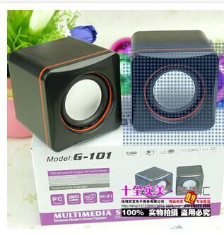 Consumer Electronics Accessories & Parts Speakers Desktop Laptop USB mini speaker box small101Csmall stereo MP3 portable speaker(China (Mainland))