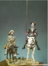 Resin GK Models Don Quixote And Sancho Free Shipping(China (Mainland))
