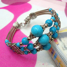 Collectables Nepal Folk Style Fashion Personality Jewelry Wholesale Beads Bracelet Multi-color Optional DIY Free Shipping(China (Mainland))