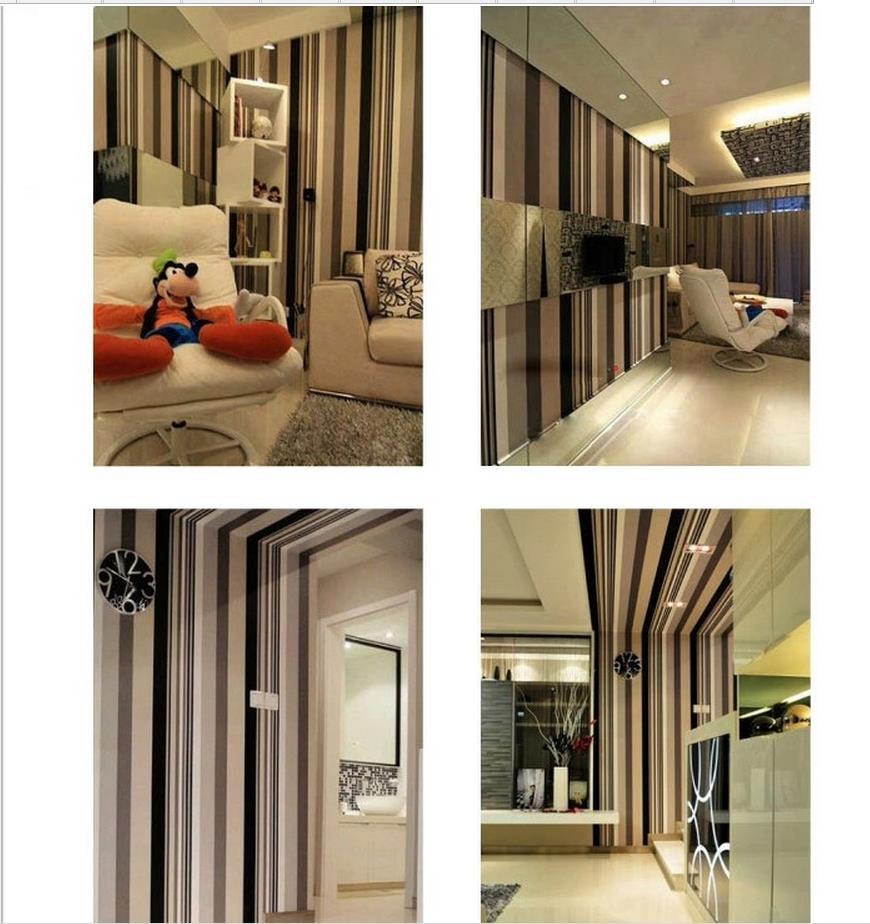 Wit streep behang promotie winkel voor promoties wit streep behang ...