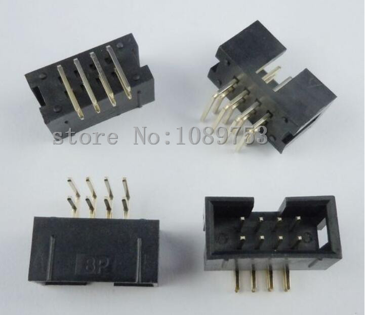 20 pcs 8 Pins 2x4 Box Header Connector IDC Male Sockets Right Angle 2.54mm<br><br>Aliexpress