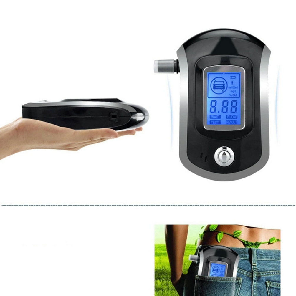 2015 Professional Mini Police Digital LCD Screen Breath Alkohol Alcohol Tester Breathalyzer AT6000 Bafometro Alcoholimetro HOT(China (Mainland))