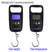 Buy Hot Mini Hanging Scale Pocket Portable 50kg LCD Digital Hanging Luggage Weighting Fishing Hook Scale Electronic Weight Scales for $4.38 in AliExpress store