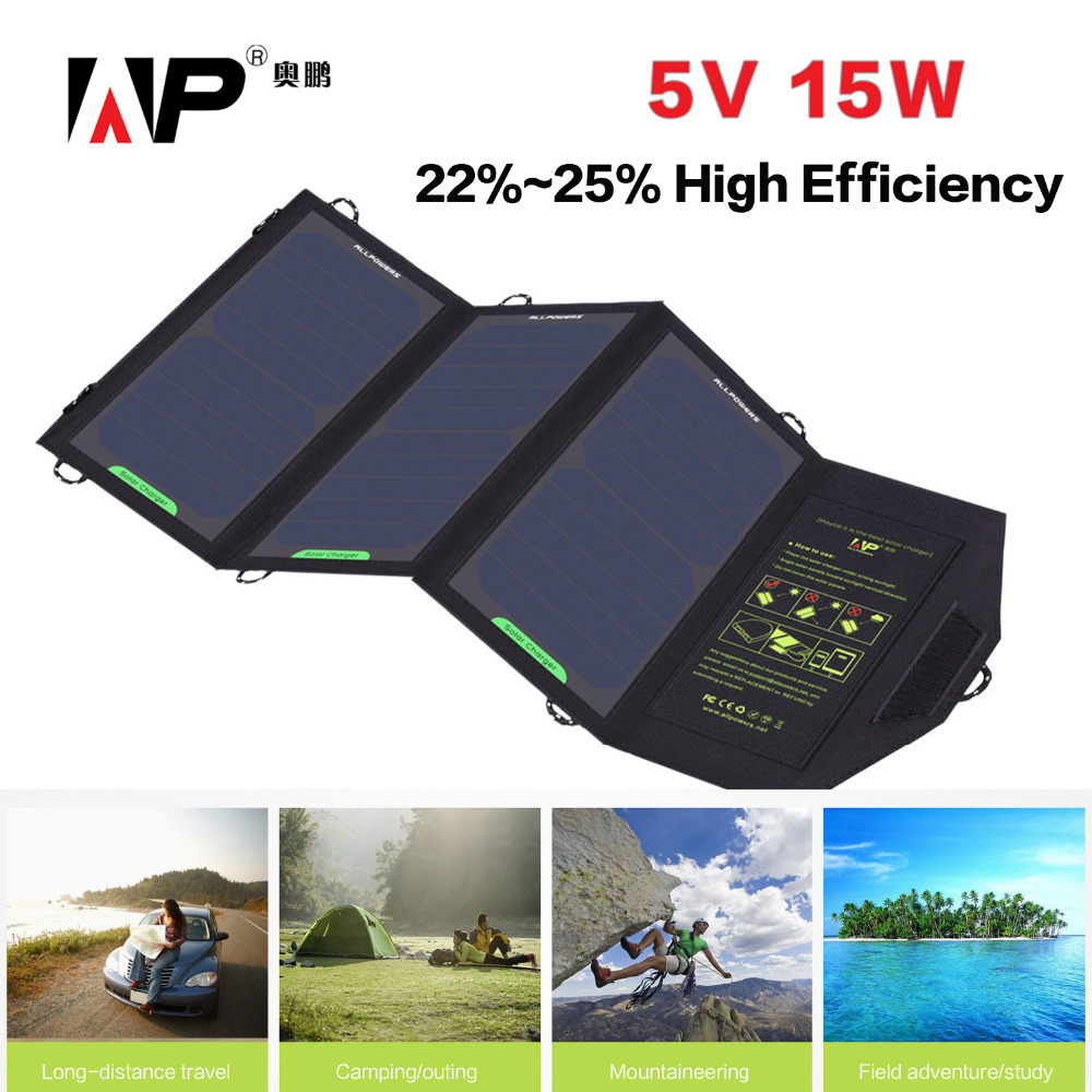 Outdoor Activity Portable Foldable Solar Charger 5v 15w Solar Phone Charger for iphone samsung HTC Tablet PC and More.(China (Mainland))