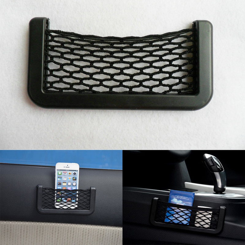 Black Net Car Organizer Storage Pockets Bag Box Automotive Adhesive Visor(China (Mainland))