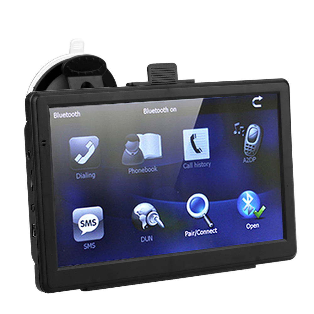 "7"" HD Touch Screen Portable Car GPS Navigation E-book FM Video Play Car Navigator with Bluetooth Europe Map Phone Connected GPS(China (Mainland))"