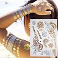 Flash Tattoo 3D Temporary Tattoo Sticker Fake Gold Tattoo Sex Henna Tatouage Metallic Tattoo Aramex Tatuajes