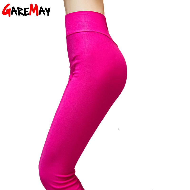 2016 New Women Pants Skinny Casual Sweet Candy High Elastic Capris Pencil Plus Size 4XL Waist ladies pant Trousers Female - Garemay Store store