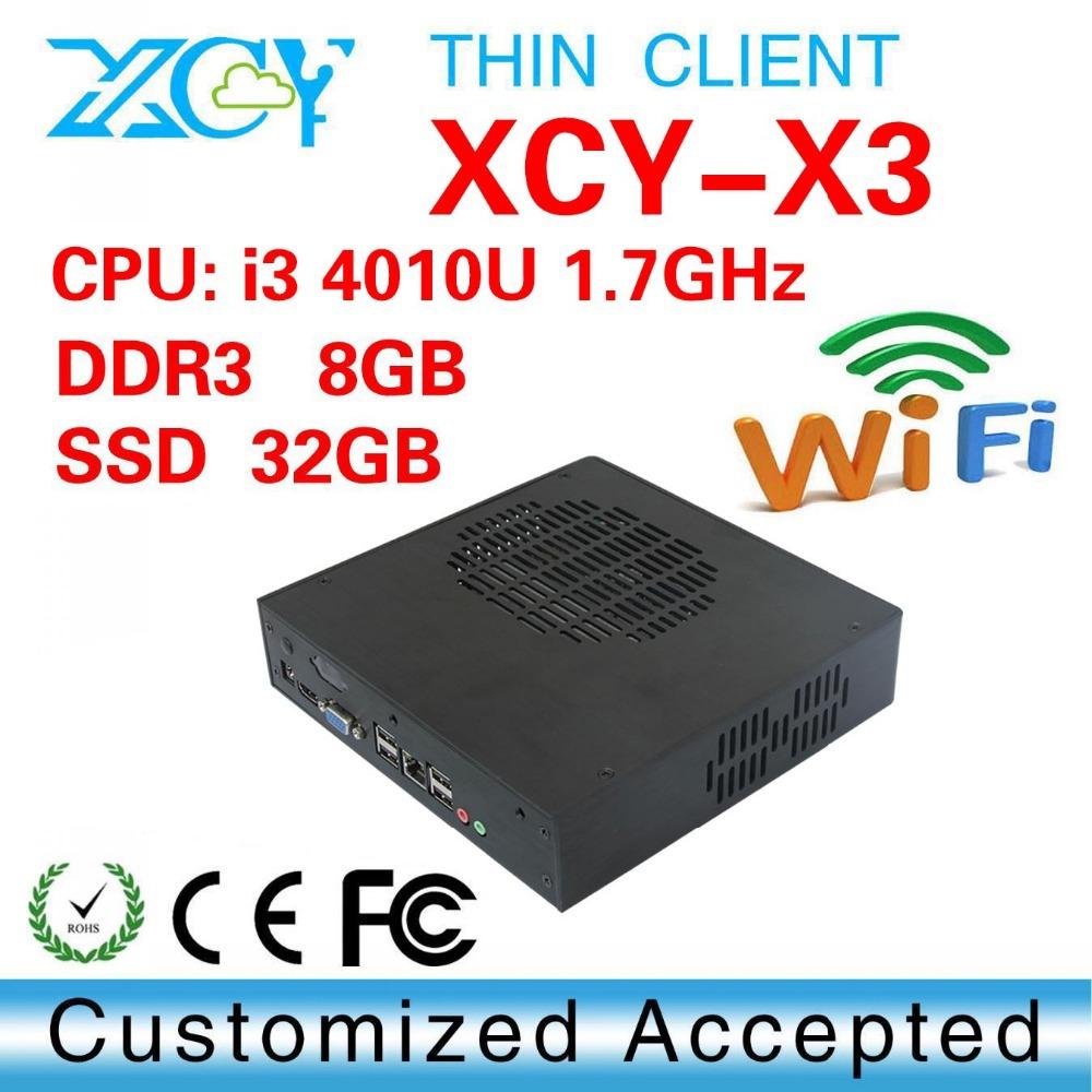Mini PC Linux i3 4010U 8G RAM 32G SSD Ubuntu Linux 12.04 Small Computer Case Support Hd Video Thin Client(China (Mainland))
