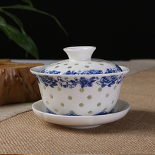 Porcelain Tea Set Traditional Chinese Gaiwan Tea Cup Set Dining bar Supplies