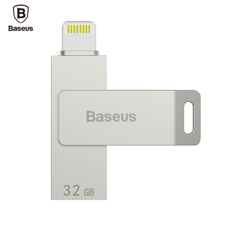 BASEUS 32GB USB 3.0 High Speed Mini USB Flash Drive Memory Stick Zinc Alloy Chrome MFI for iPhone7 6 Plus 5C 4 for Apple For iOS(China (Mainland))