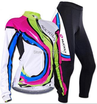 Nuckily женщин зима теплая 3D хлопка-ватник брюки с длинным рукавом износ одежда женщин тепловой ватки комплект
