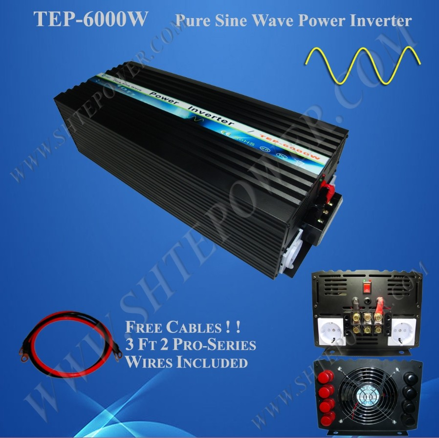 Best quality pure sine wave 6000w power inverter, 48v inverter, 6000w dc to ac converter(China (Mainland))