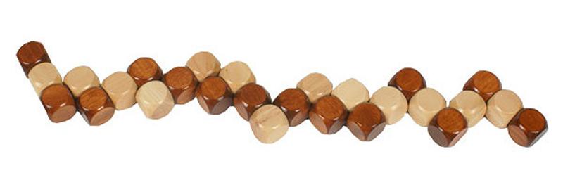 1Set 3D Wooden DIY Brain Teaser Puzzle Kids Toys Cube Ming ...